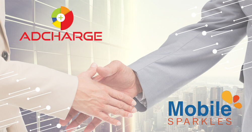 AdCharge media platform for mobile advertising in a Partnership with Mobile Sparkles